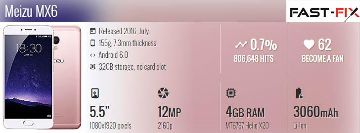 Ремонт Meizu MX5