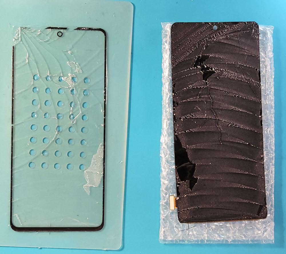Samsung A71 замена стекла